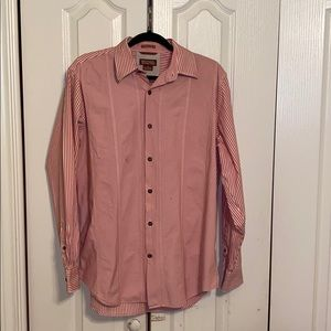 Men's Michael Kors long sleeve button stripedshirt